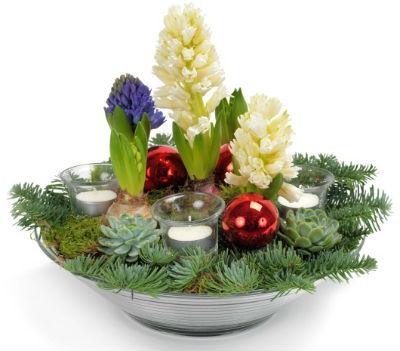 Гиацинты, новогодние украшения своими руками